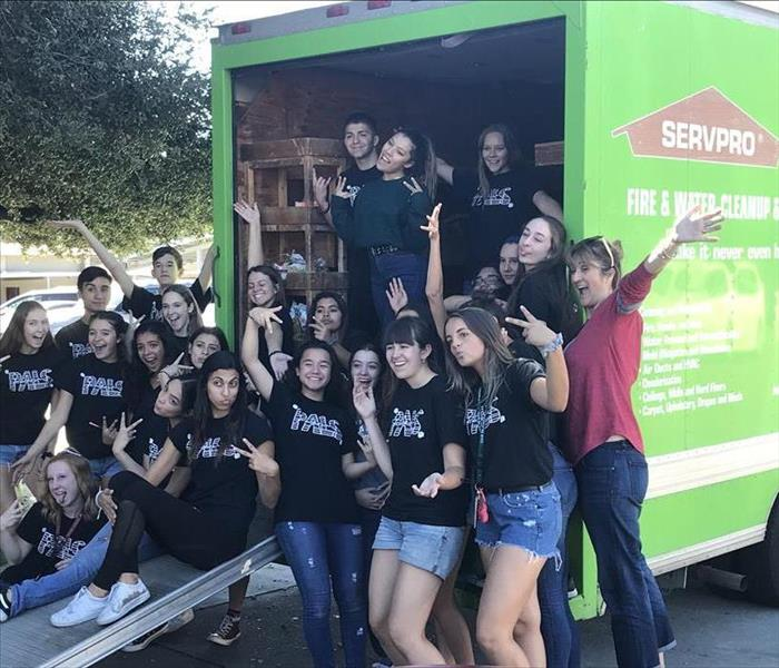 Glendora High School Food Drive with SERVPRO