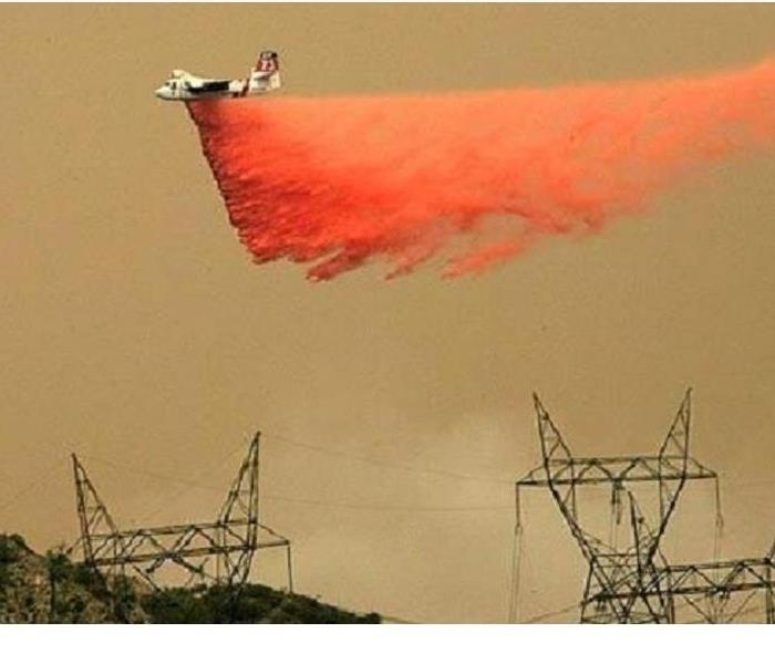 Fire Bomber over Southern California Fire
