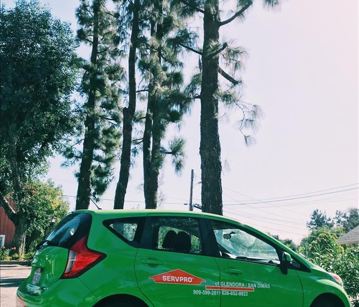 SERVPRO car out in Southern California